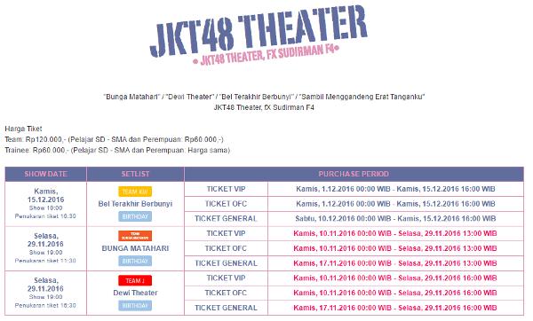 Jkt48 Pengumuman Mengenai Sistem Tiketing Teater Jkt48